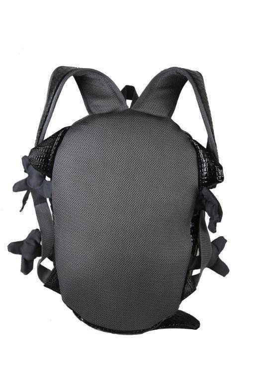 高級感満載!新品 デザイナーズ変形 爬虫類リュック込ベルト付 ユニセックス鞄 クロコダイル(ワニ)柄お洒落 実物写真_画像3