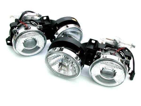 車検対応●BMW E30 3シリーズ全車用キセノンタイププロジェクターヘッドライトセット/318/320/323/325/M3/HID対応/ガラスレンズ_画像1