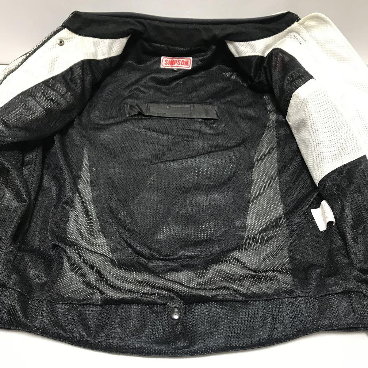 シンプソン(SIMPSON)  半袖切り替え 春夏 メッシュジャケット(メンズ) ライダースジャケット バイクウエア サイズM 中古_画像4