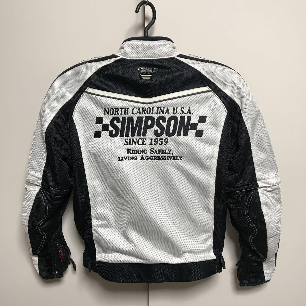 シンプソン(SIMPSON)  半袖切り替え 春夏 メッシュジャケット(メンズ) ライダースジャケット バイクウエア サイズM 中古_画像2