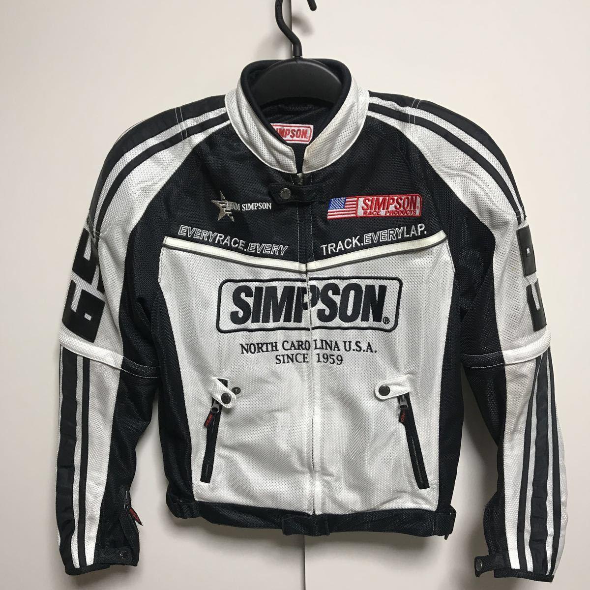 シンプソン(SIMPSON)  半袖切り替え 春夏 メッシュジャケット(メンズ) ライダースジャケット バイクウエア サイズM 中古