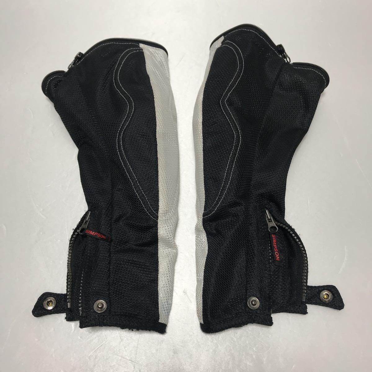 シンプソン(SIMPSON)  半袖切り替え 春夏 メッシュジャケット(メンズ) ライダースジャケット バイクウエア サイズM 中古_画像8
