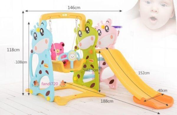 高級感溢れる★ベビー用滑り台 子供用スライド 室内すべり台 スイング 遊園地組み合わせ 1-6歳 室内遊具 子供用おもちゃ_画像5