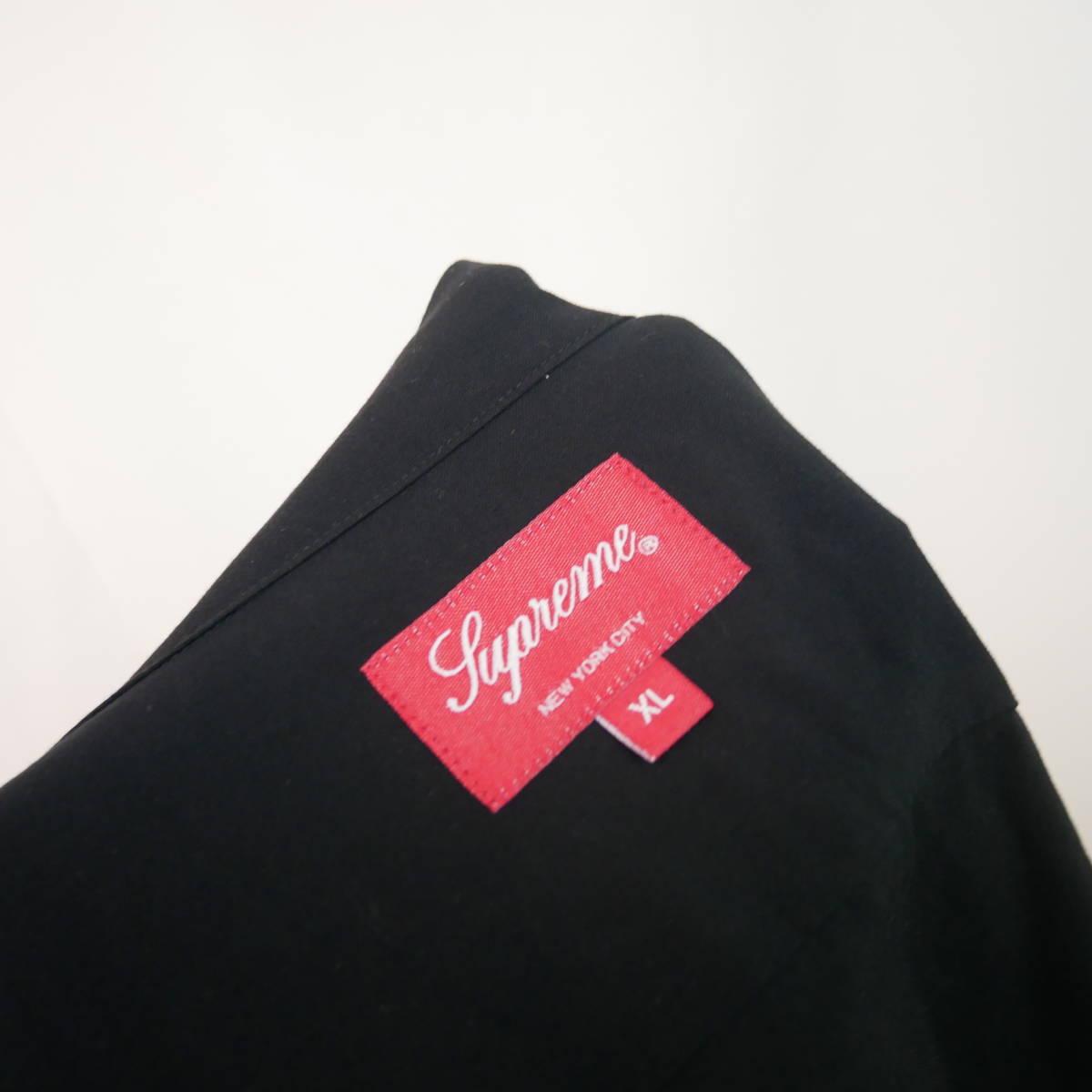 【1円】良好 国内正規 Supreme 18AW 18FW Dragon Rayon Shirt ドラゴンレーヨンシャツ Black 黒 XL_画像5