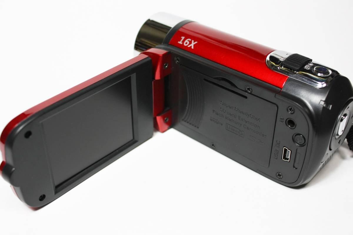 1円 2019年製 新品 未使用 日本語 動作OK 完動品 デジタルビデオカメラ 1080P SDカード パソコン 日本語説明書付 b_画像2