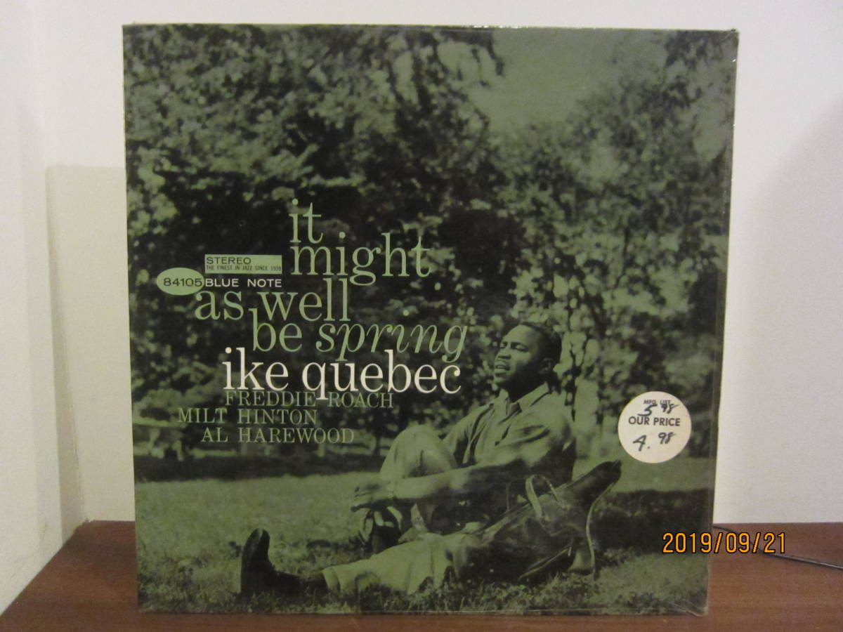 ◆ Ike Quebec/It Might As Well Be Spring 超美盤 極美ジャケ 超すごい音 ◆