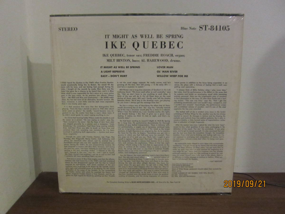 ◆ Ike Quebec/It Might As Well Be Spring 超美盤 極美ジャケ 超すごい音 ◆_画像2