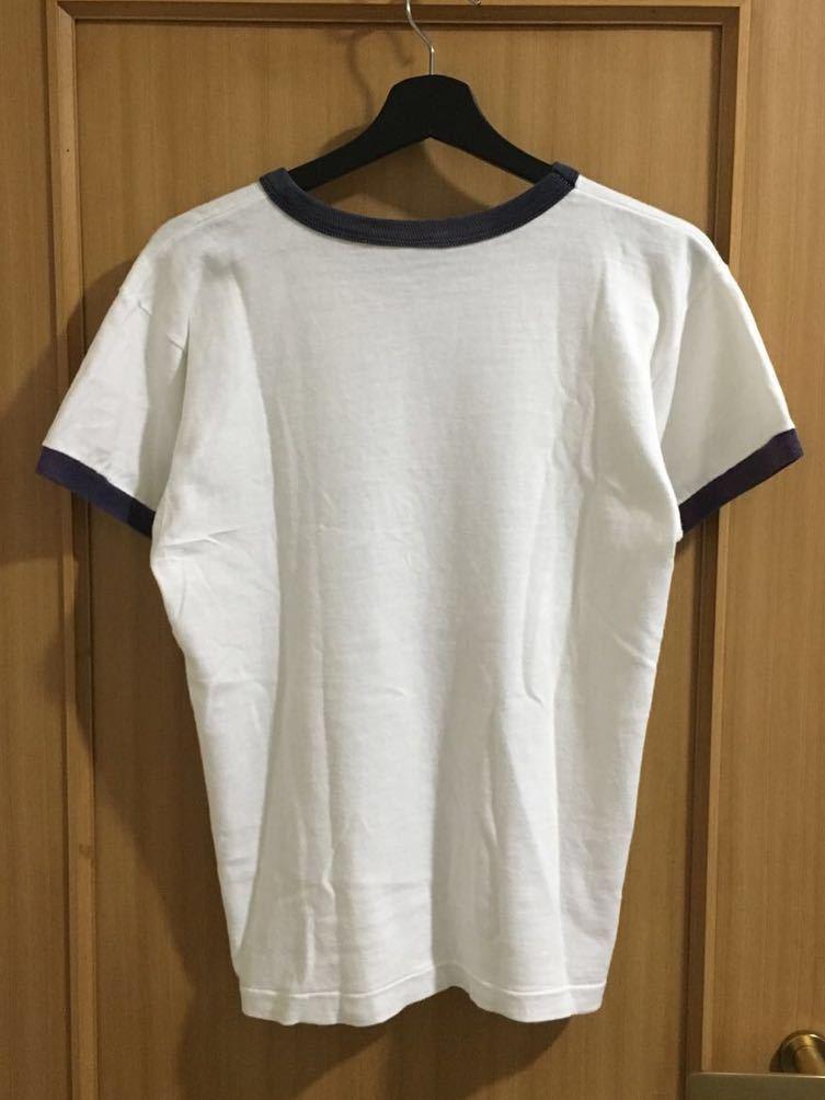 Champion バータグ USAFA リンガー Tee Tシャツ vintage サイズ M ミリタリー チャンピオン フットボール 70's ビンテージ_画像2