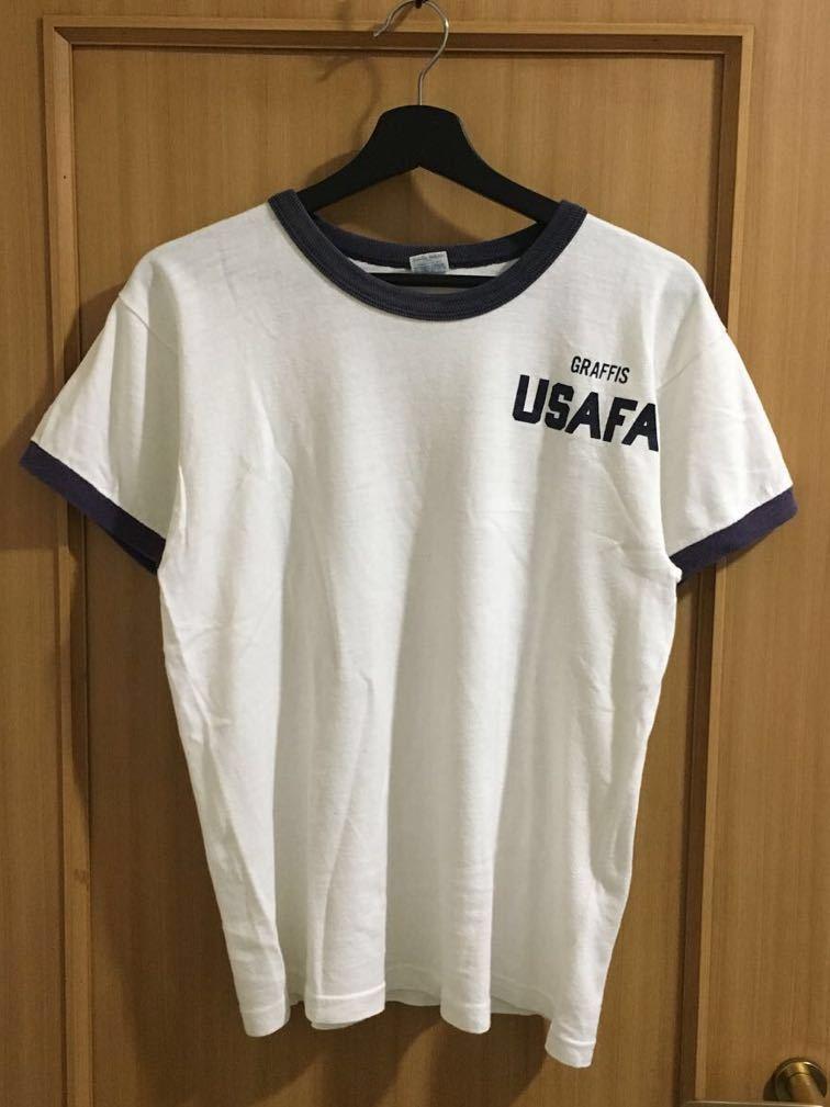 Champion バータグ USAFA リンガー Tee Tシャツ vintage サイズ M ミリタリー チャンピオン フットボール 70's ビンテージ