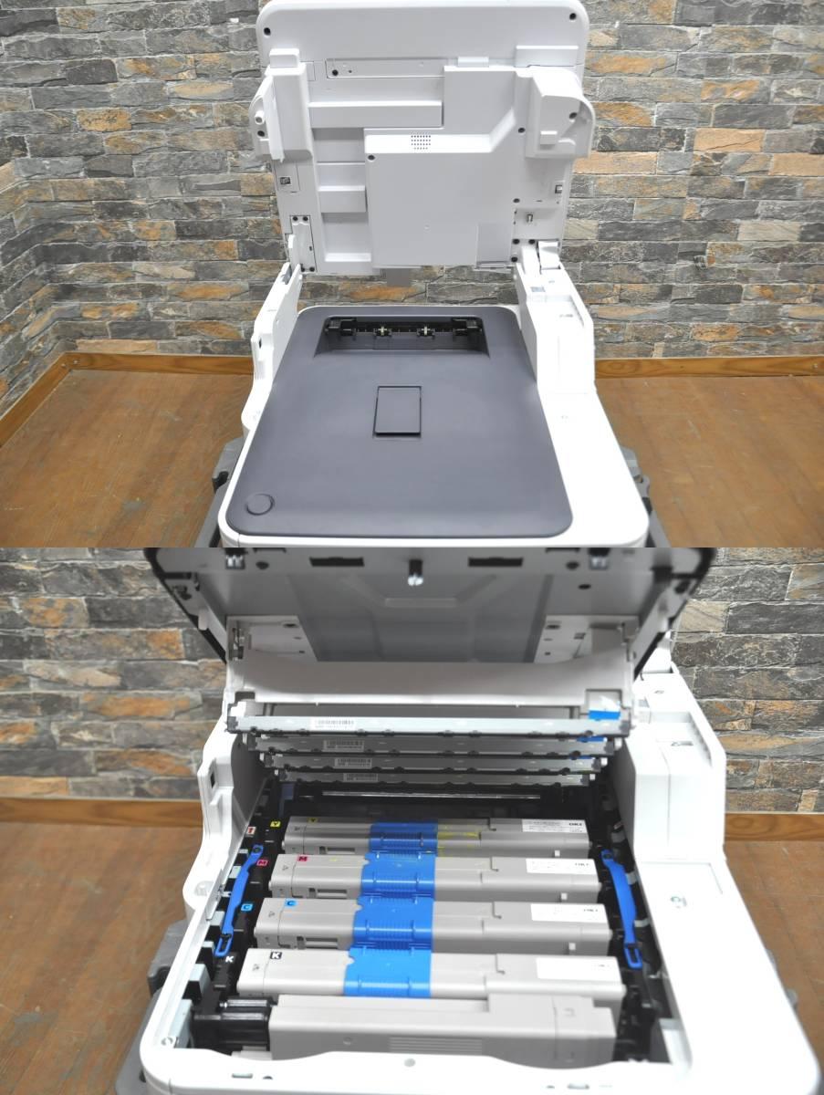 ★☆h009 OKI カラープリンター MC363dnw 100V カラーLED複合機 コンパクト 高速印刷 スタンダードモデル 事務 オフィス 書斎 ☆★_画像8