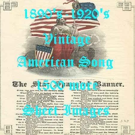 USAビンテージアメリカ音楽曲楽譜表紙タイトル画像集1500種素材/ビンテージヴィンテージ古イラストレーターイラレphotoshop壁紙加工看板_画像1