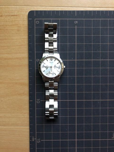 KK922 CITIZEN/シチズン Wicca ウィッカ デイデイト シルバー 6329 純正SSブレス クオーツ レディース 腕時計_画像2