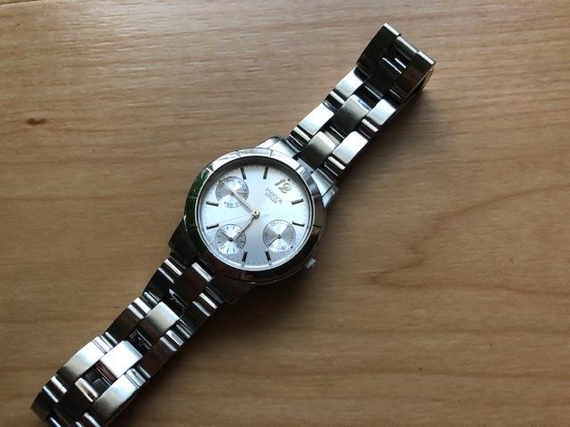 KK922 CITIZEN/シチズン Wicca ウィッカ デイデイト シルバー 6329 純正SSブレス クオーツ レディース 腕時計