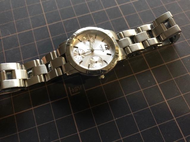 KK922 CITIZEN/シチズン Wicca ウィッカ デイデイト シルバー 6329 純正SSブレス クオーツ レディース 腕時計_画像4