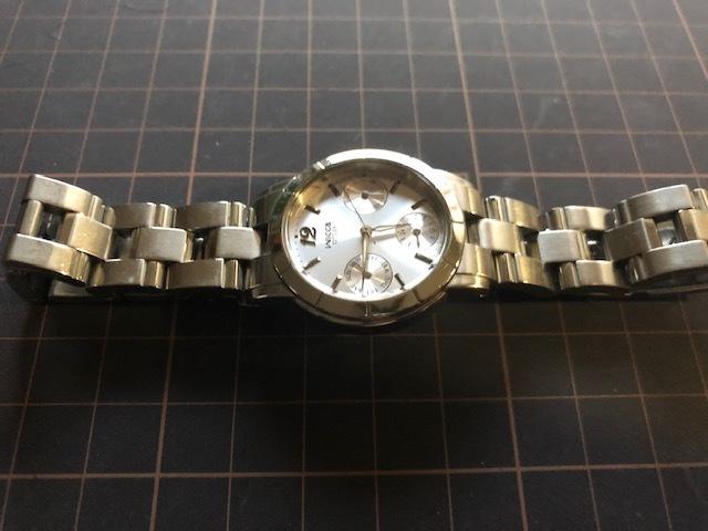 KK922 CITIZEN/シチズン Wicca ウィッカ デイデイト シルバー 6329 純正SSブレス クオーツ レディース 腕時計_画像5
