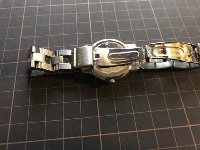 KK922 CITIZEN/シチズン Wicca ウィッカ デイデイト シルバー 6329 純正SSブレス クオーツ レディース 腕時計_画像6