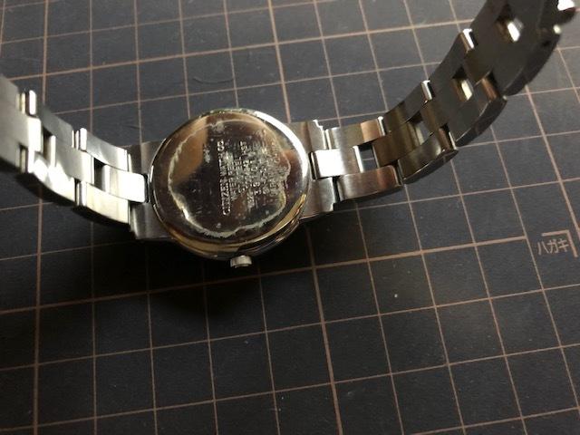 KK922 CITIZEN/シチズン Wicca ウィッカ デイデイト シルバー 6329 純正SSブレス クオーツ レディース 腕時計_画像7