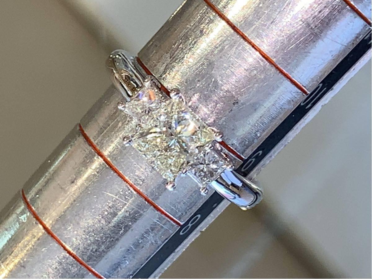 「高品質」PT900プリンセスカットダイヤモンドリング 最大値引きしました   赤字です_画像7