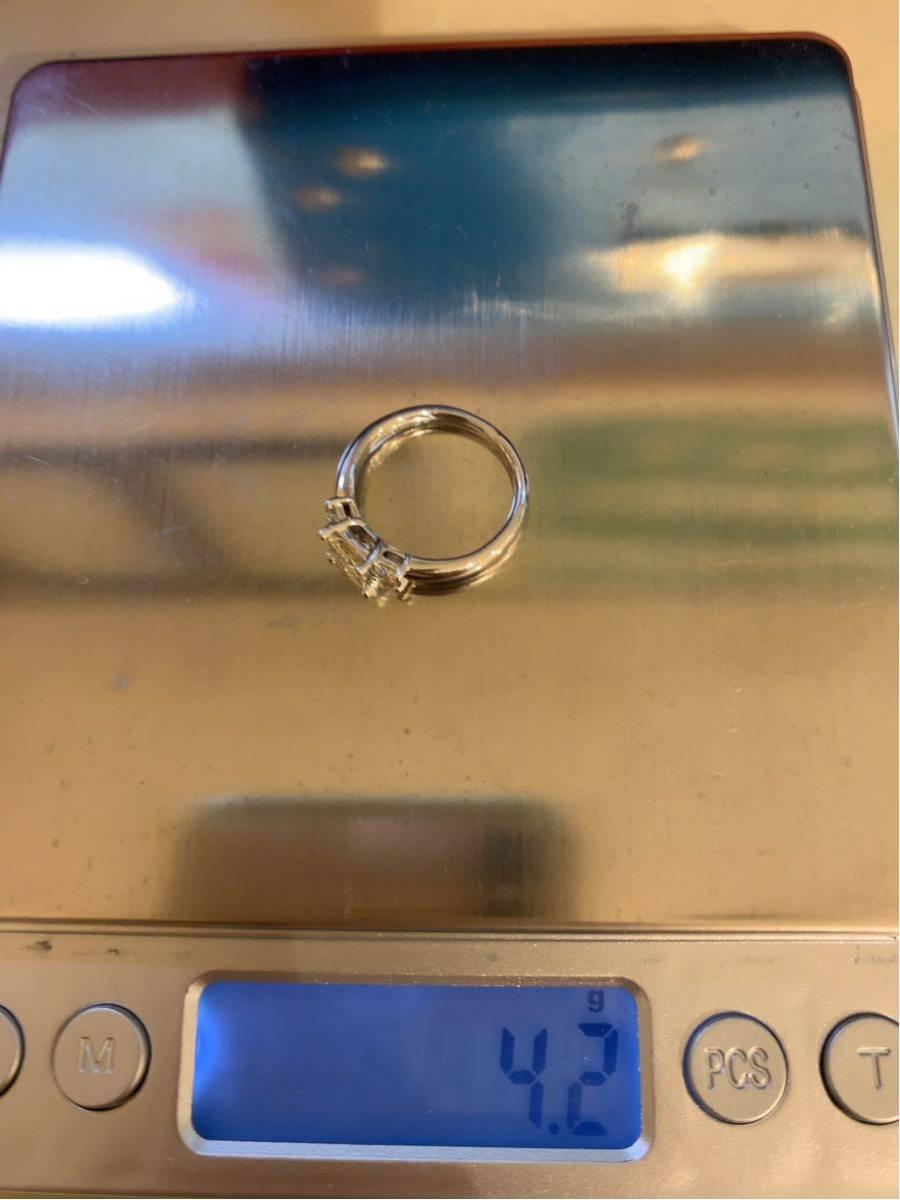 「高品質」PT900プリンセスカットダイヤモンドリング 最大値引きしました   赤字です_画像8