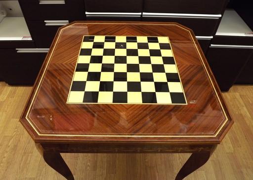 ゲームテーブル イタリア製 ルーレット チェス バックギャモン 象嵌 カジノ アンティーク 西岡店_画像4