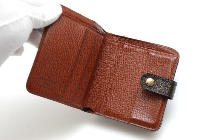 【美品 最落無】 ルイ ヴィトン Louis Vuitton モノグラム コンパクトジップ 二つ折り 財布 メンズ レディース 本物 美品 1円 定価約7万_画像7