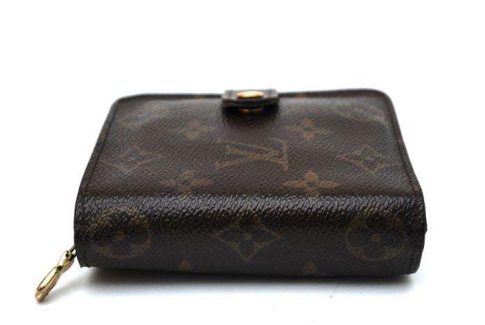 【美品 最落無】 ルイ ヴィトン Louis Vuitton モノグラム コンパクトジップ 二つ折り 財布 メンズ レディース 本物 美品 1円 定価約7万_画像4