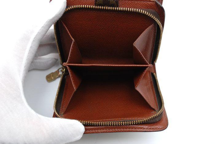 【美品 最落無】 ルイ ヴィトン Louis Vuitton モノグラム コンパクトジップ 二つ折り 財布 メンズ レディース 本物 美品 1円 定価約7万_画像8