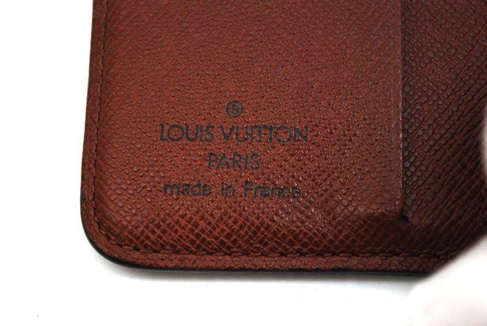 【美品 最落無】 ルイ ヴィトン Louis Vuitton モノグラム コンパクトジップ 二つ折り 財布 メンズ レディース 本物 美品 1円 定価約7万_画像10