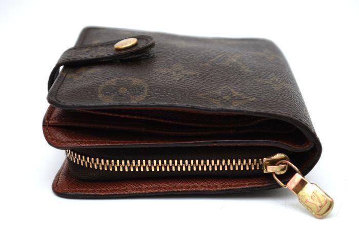 【美品 最落無】 ルイ ヴィトン Louis Vuitton モノグラム コンパクトジップ 二つ折り 財布 メンズ レディース 本物 美品 1円 定価約7万_画像5