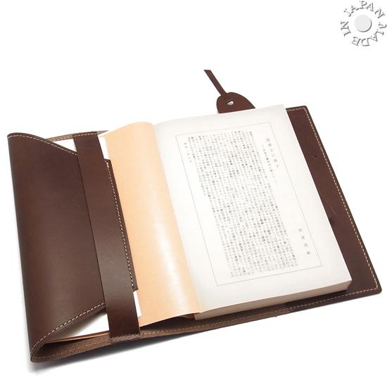 ブッテーロ 本革 フィレンツェ WALPIER ワルピエ社 文庫本用 ブックカバー/レッド色_画像5