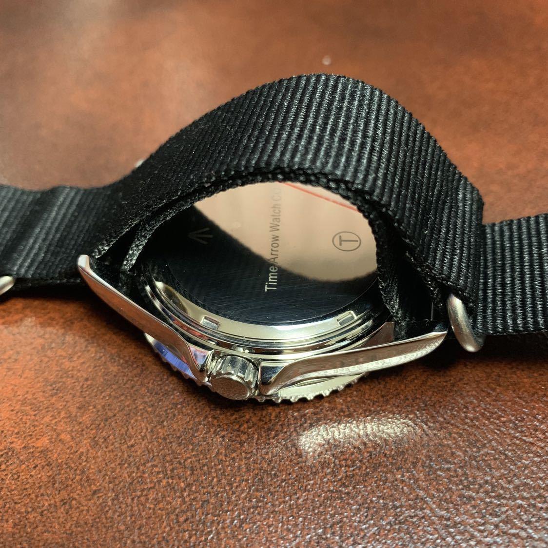 新品 未使用 TIME ARROW WATCH ミリタリー ダイバー クォーツ 腕時計 時計 軍用 オマージュ_画像3