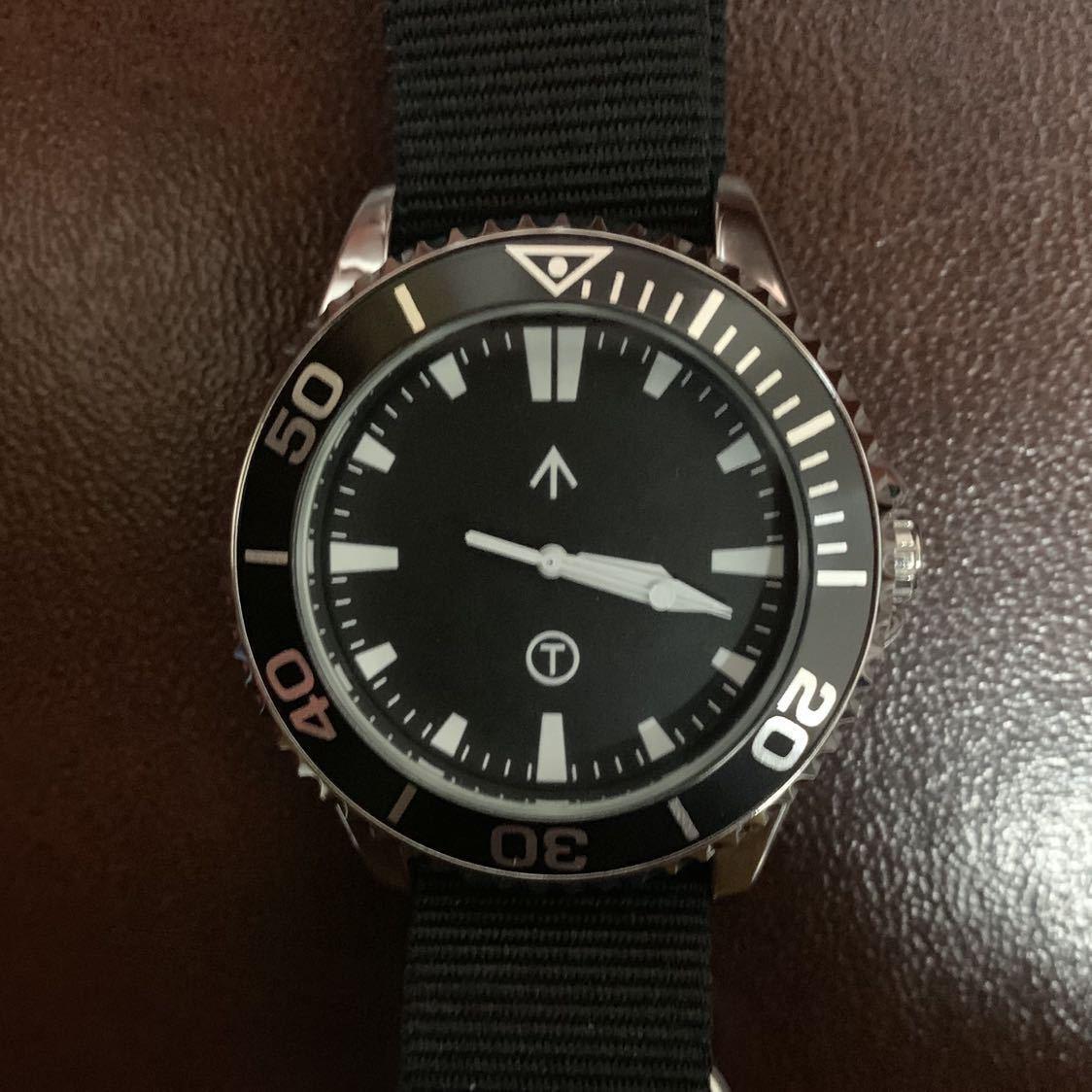 新品 未使用 TIME ARROW WATCH ミリタリー ダイバー クォーツ 腕時計 時計 軍用 オマージュ