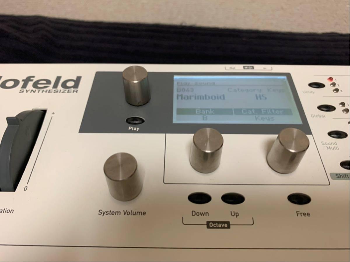 送料込み Waldorf Blofeld Keyboard ノブに難あり それ以外は完動品_画像4