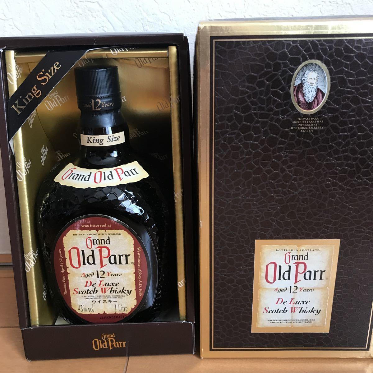 新品 未開封 古酒 グランド オールドパー 12年 43% 1l 箱入り キングサイズ
