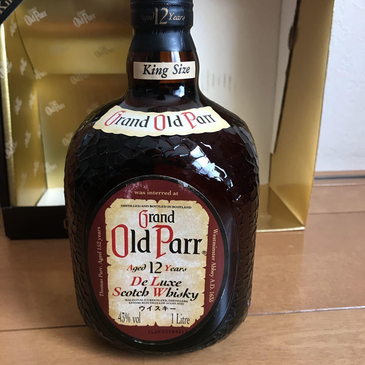 新品 未開封 古酒 グランド オールドパー 12年 43% 1l 箱入り キングサイズ_画像5