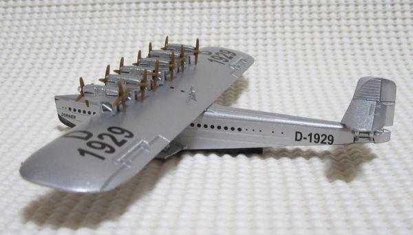 ドルニエ Do X ルフトハンザ航空 1/350 デル・プラド 世界の航空機100年物語 10号 ダイキャスト Del Prado Dornier GERMANY_斜め後ろから(※見本)