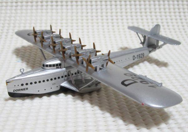 ドルニエ Do X ルフトハンザ航空 1/350 デル・プラド 世界の航空機100年物語 10号 ダイキャスト Del Prado Dornier GERMANY_斜め前から(※見本)