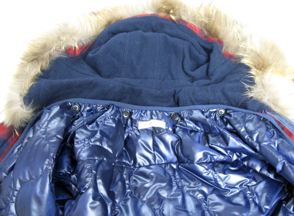 ジョン アンダーカバー John UNDER COVER:モッズ コート 3 ( coat タータンチェック ライナー付き ラクーンファー coat_画像3