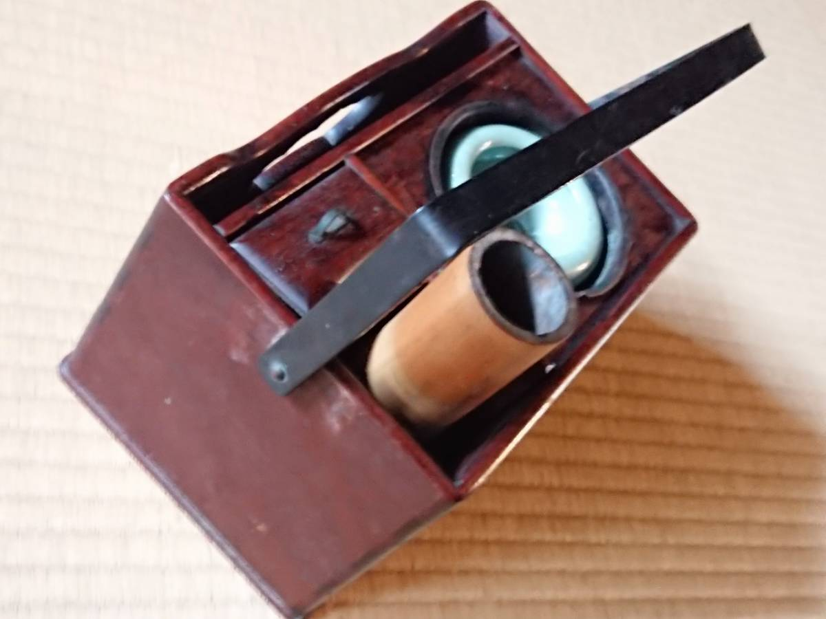 煙草盆 引出し付き キセル立て 喫煙具 古道具 古民家 骨董 幅約210㎜ 奥行約145㎜ 高さ約140㎜ 【2228】_画像3