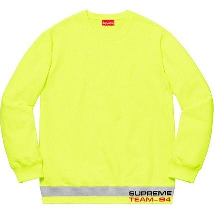 (L)未使用品 納品書付き 19ss Supreme Rib Stripe Crewneck Bright Yellow Lサイズ 国内正規品 シュプリーム sweatshirt 20ss_画像1