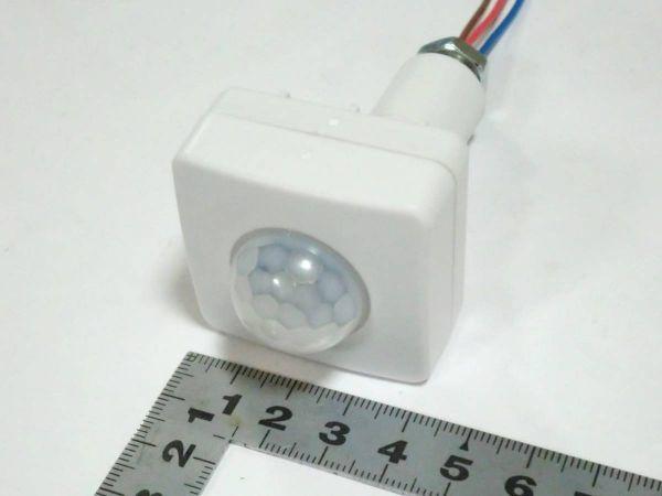 ◇人感センサースイッチ 小型高機能3調整タイプ☆7/新品 赤外線センサー ダイソーLEDライト、電球型蛍光灯_画像3