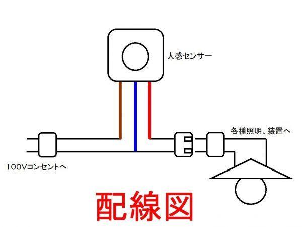 ◇人感センサースイッチ 小型高機能3調整タイプ☆7/新品 赤外線センサー ダイソーLEDライト、電球型蛍光灯_画像7