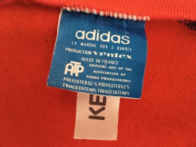 アディダス ATPジャージ フランス製 レッド&ブラックミントコンディション VENTEX made in FRANCE 70s 青タグ ヴィンテージ adidas_画像6