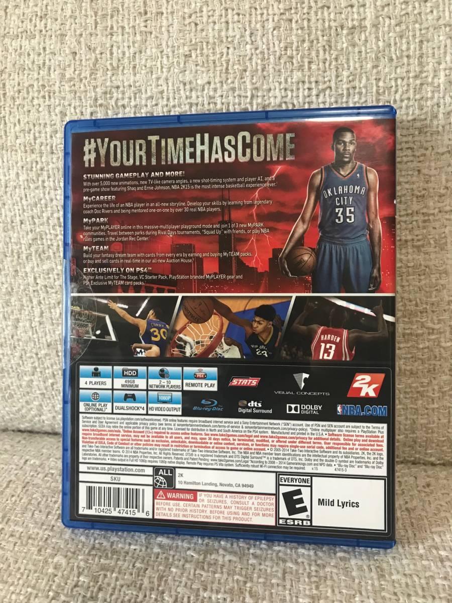 中古 PS4 PLAYSTATION 4 ソフト NBA2K15 北米版 プレイステーション4