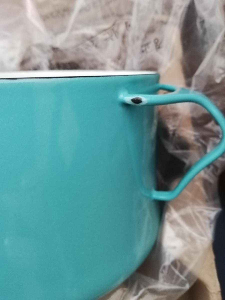 送料無料 ダンスク コベンスタイル片手鍋18㎝深型3,2L 新品未使用 鍋 北欧 ブルー ホーロー_画像3