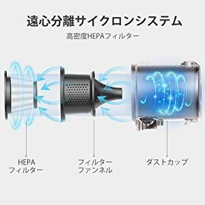 新品同様 Finether コードレス掃除機 スティック&ハンディクリーナー 2WAY 充電式 サイクロン掃除機 軽量 静音 強吸引力 40分間稼働 C19B_画像7