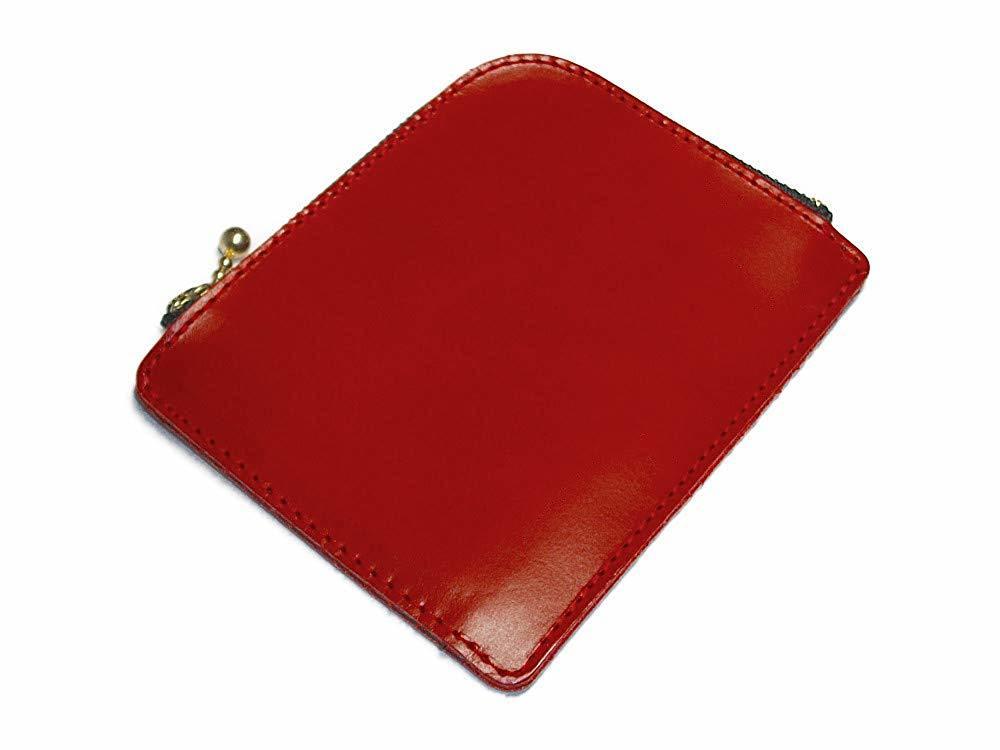 小さいお財布(レッド)L字ファスナー 財布 コインケース 小銭入れ 赤色 メンズ レディーズ 本革 レザー【送料無料】【新品】_画像3