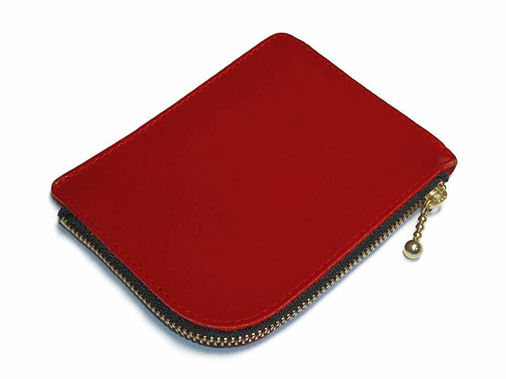 小さいお財布(レッド)L字ファスナー 財布 コインケース 小銭入れ 赤色 メンズ レディーズ 本革 レザー【送料無料】【新品】_画像4