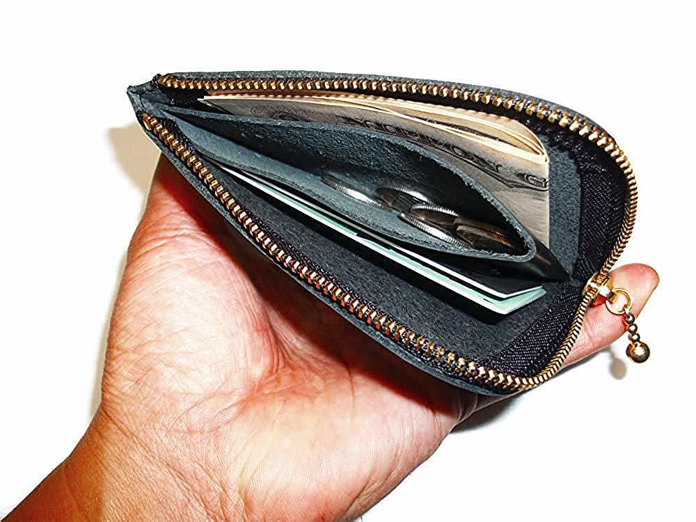小さいお財布(レッド)L字ファスナー 財布 コインケース 小銭入れ 赤色 メンズ レディーズ 本革 レザー【送料無料】【新品】_画像5