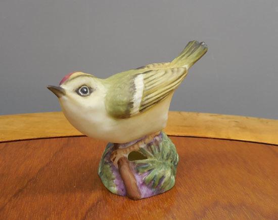 royal worcester/ロイヤルウースター◇鳥の陶器人形 GOLD CREST ゴールドクレスト キクイタダキ フィギュリン 野鳥 札幌_画像1